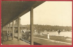 Beulah Mi Northway Lake Boats RPPC Postcard