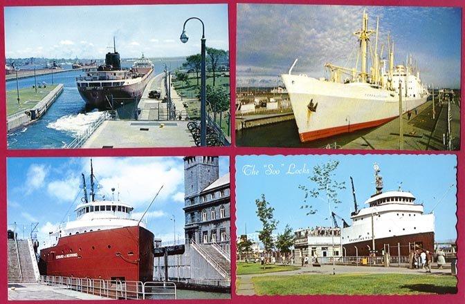 100 Michigan Chrome Postcard Lot Grand Hotel Falls Cross Scenic