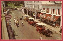 Mackinac Island Mi Postcard Main Street Horse Carriage Ryba's Fudge