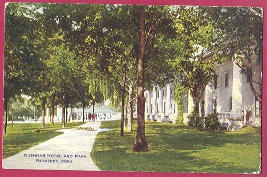 Image 0 of Petoskey MI Postcard Cushman Hotel Park BJ's