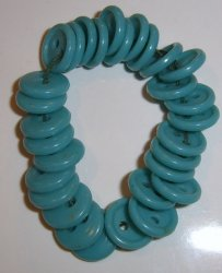 30 small turquoise buttons button Plastic BJs