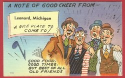 Leonard Mi Postcard Good cheer Men Linen BJ's 5