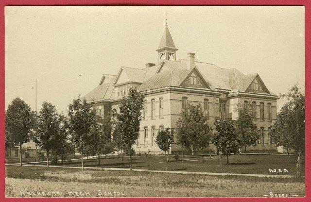 Real photo, postcard, Kalkaska, Michigan, High school, Beebe