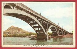 Apache Trail AZ Postcard Tempe Bridge BJs