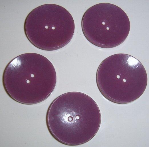 Lot of 5 Purple Lavendar Plastic buttons