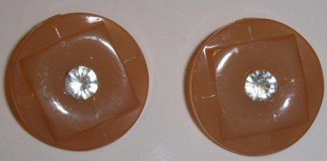 Champagne w/ rhinestone Plastic button