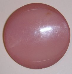 Large Pink Concave Coat Button