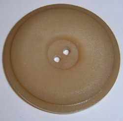 Large Dark Ivory Coat Button