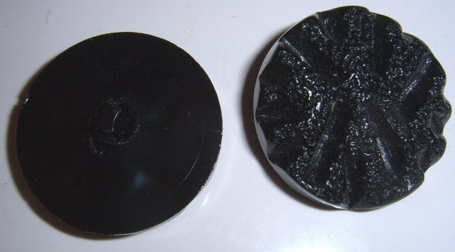 Large Black plastic buttons