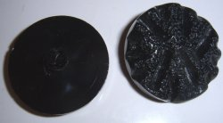 Large Black plastic buttons