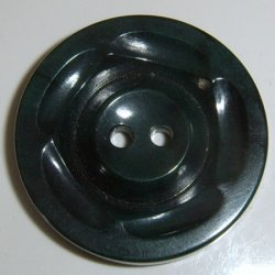 Lot of 6 Large Black plastic buttons