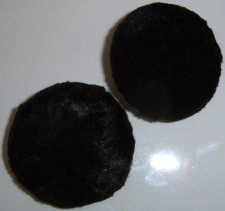 Large Black Fur button