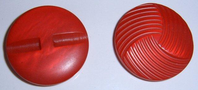 Bright Red Plastic button BJs Pretty