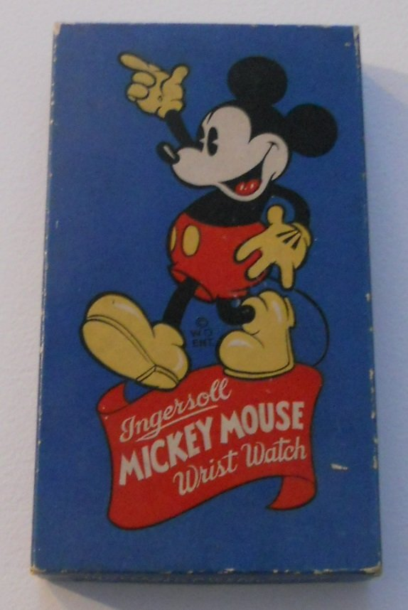 Very cool Mickey Mouse Wrist Watch box 1930's