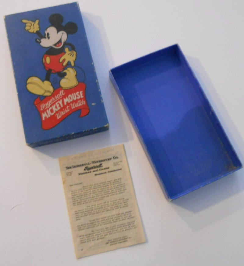 Mickey Mouse Wrist Watch Box and pamphlet