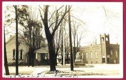 Bangor Mi Cone'l Christian Church RPPC Postcard