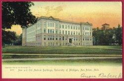 Ann Arbor Mi Postcard Medical Buildings U of M UDB BJ's