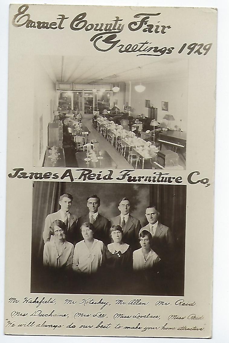 Reid Furniture Company 1929