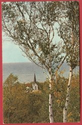 Middle Village Mi Postcard Good Hart Harbor Springs BJ's