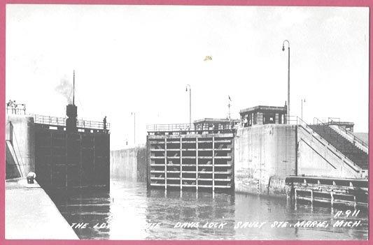 Image 0 of Soo Locks Sault Ste Marie Mi Davis Lock RPPC