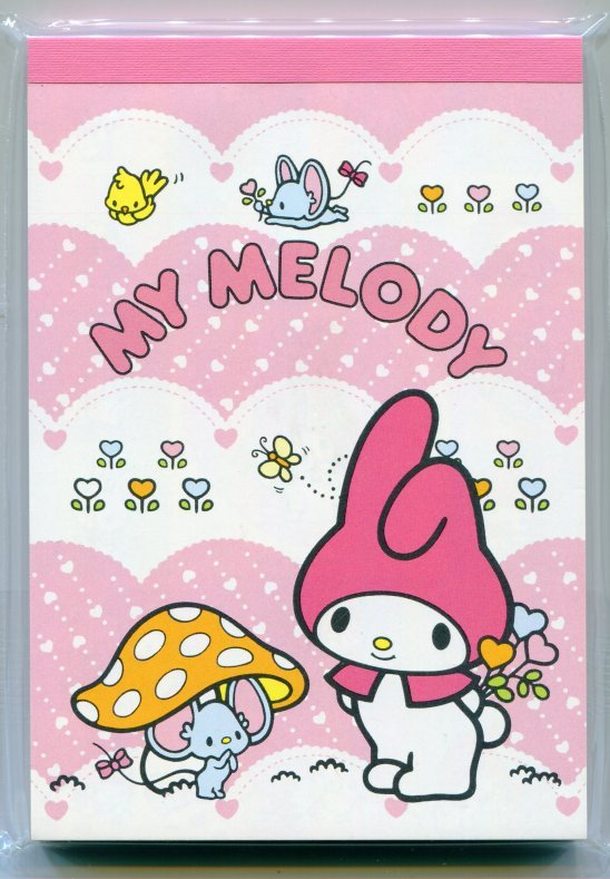 Image 0 of Sanrio My Melody 4 Design Memo Pad with Sticker #2 (M0859)