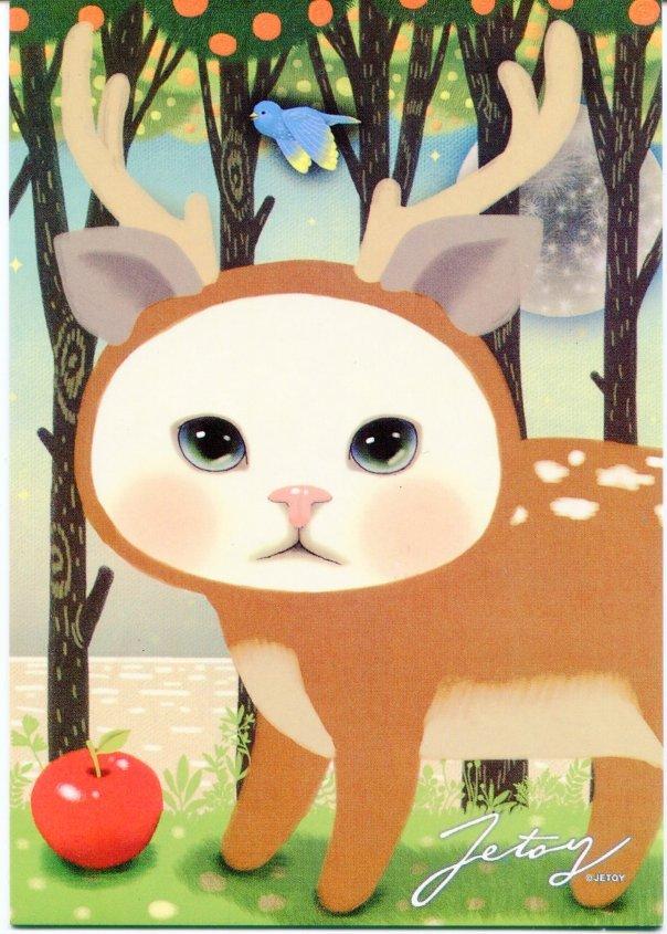 Image 0 of Korea Jetoy Choo Choo Cat Postcard #02 (PO0002)