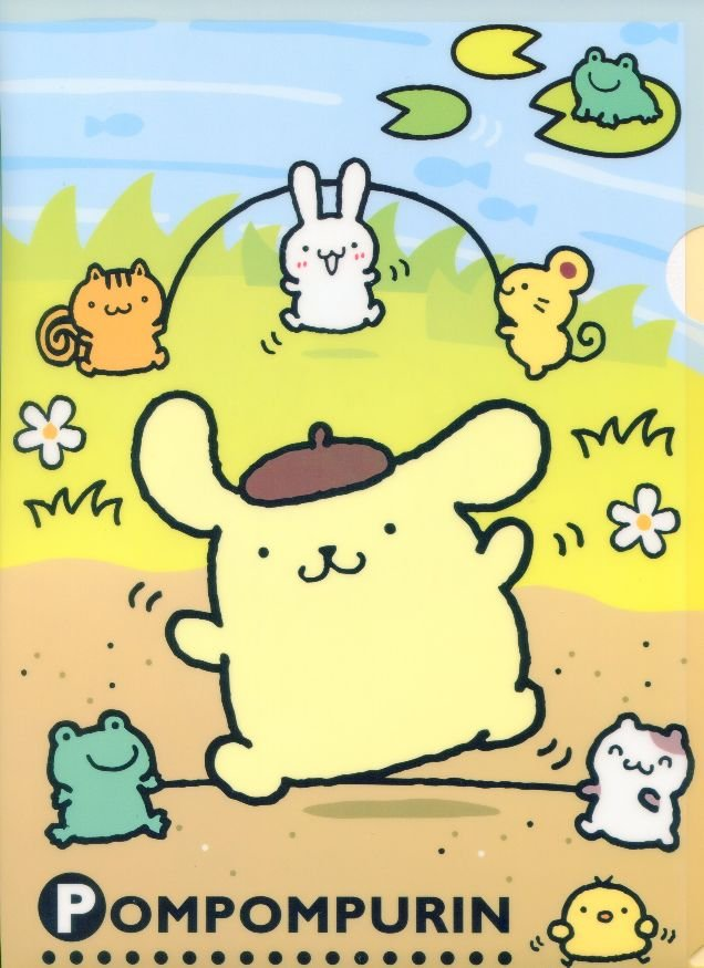 Image 0 of Sanrio Purin A4 Plastic File Folder #2
