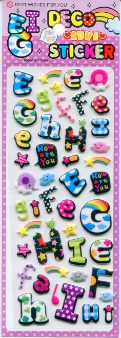 Image 0 of Deco Sponge Sticker Sheet #4 (I0600)