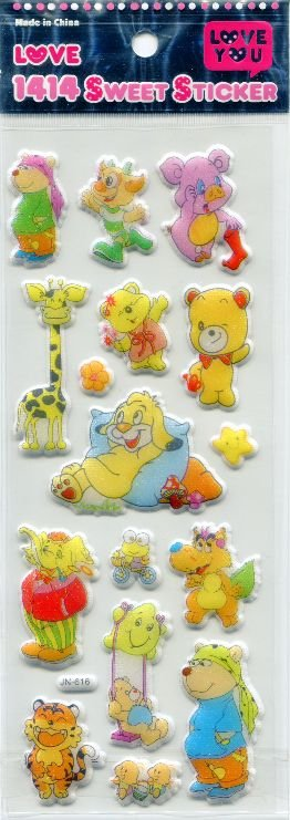 Image 0 of Animal Love Sweet Sticker Sheet #1 (I0613)