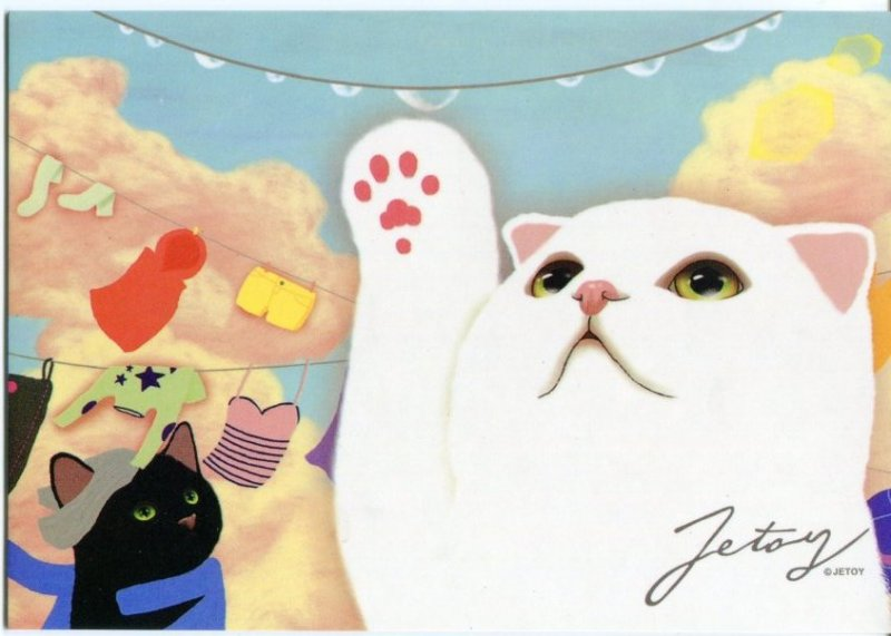 Image 0 of Korea Jetoy Choo Choo Cat Postcard #04 (PO0004)