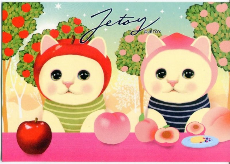 Image 0 of Korea Jetoy Choo Choo Cat Postcard #10 (PO0010)