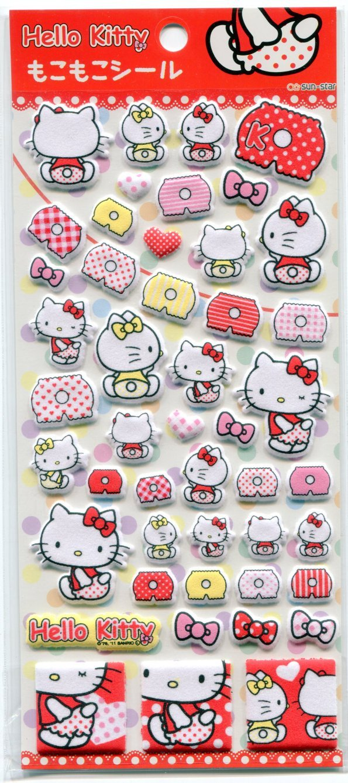 Image 0 of Sanrio Hello Kitty Underpants Sponge Sticker Sheet #1 (I0904)