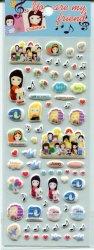 Tianke Marguerite Friends Sponge Sticker Sheet #1 (I0909)