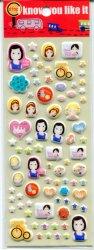 Tianke Marguerite Friends Sponge Sticker Sheet #2 (I0910)