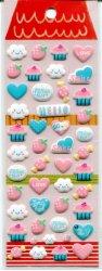 Tianke Cloud Heart Strawberry Sponge Sticker Sheet #1 (I0915)