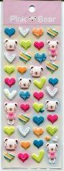 Tianke Bear Sponge Sticker Sheet #2 (I0916)