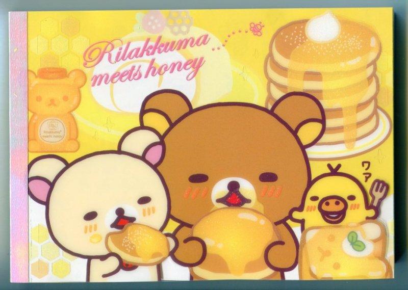 Image 0 of San-X Rilakkuma Relax Bear 5 Design Memo Pad #5 (M0895)