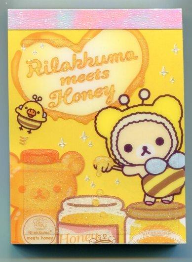 Image 0 of San-X Rilakkuma Relax Bear 2 Design Mini Memo Pad #17 (M0897)