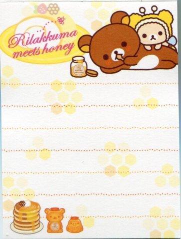 Image 2 of San-X Rilakkuma Relax Bear 2 Design Mini Memo Pad #17 (M0897)