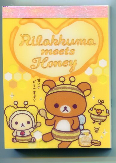 Image 0 of San-X Rilakkuma Relax Bear 2 Design Mini Memo Pad #20 (M0900)
