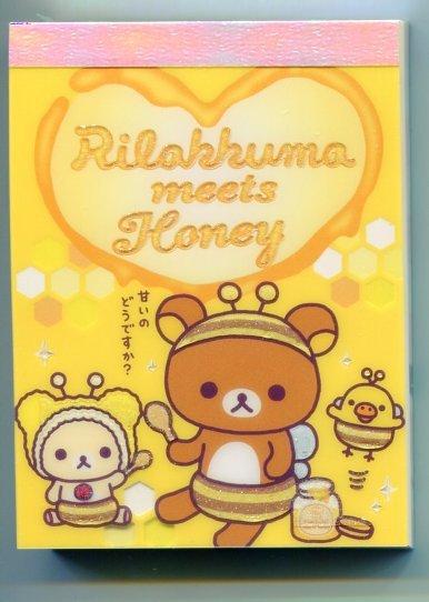 Image 0 of San-X Rilakkuma Relax Bear 2 Design Mini Memo Pad #20 (M0900)