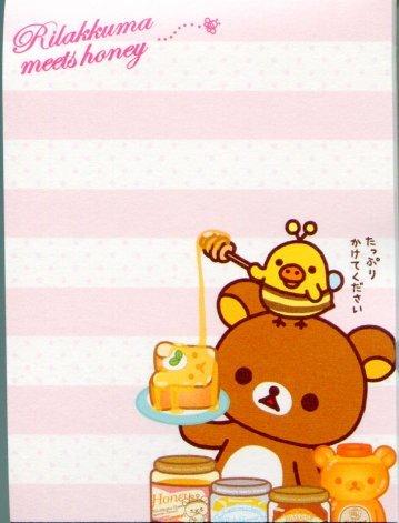Image 2 of San-X Rilakkuma Relax Bear 2 Design Mini Memo Pad #20 (M0900)