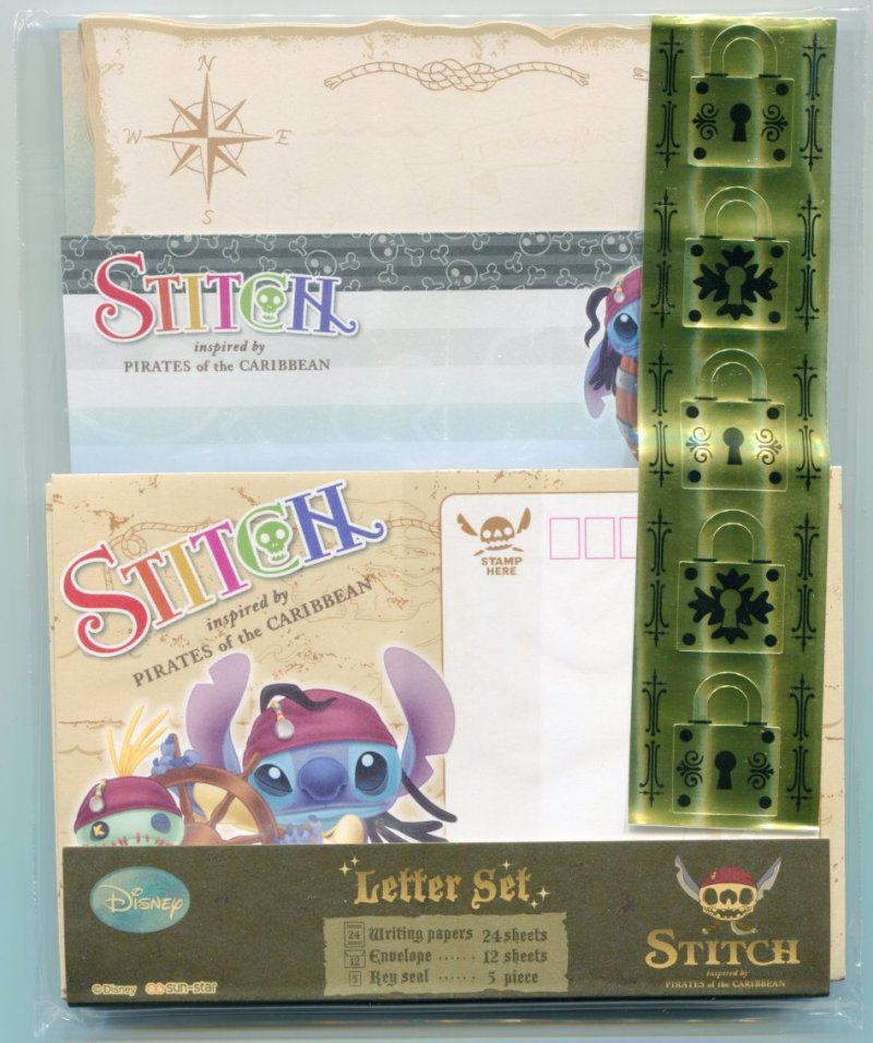 Image 0 of Disney Stitch Pirates of the Caribbean 2 Design Letter Set #1 (L0891)