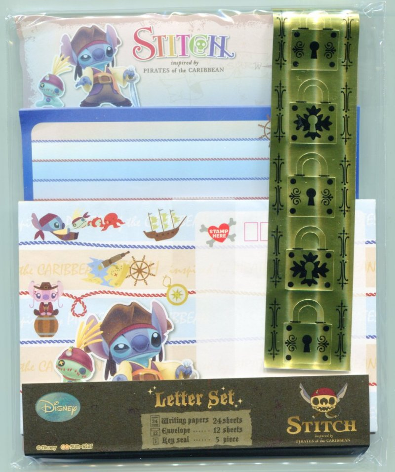 Image 0 of Disney Stitch Pirates of the Caribbean 2 Design Letter Set #2 (L0892)