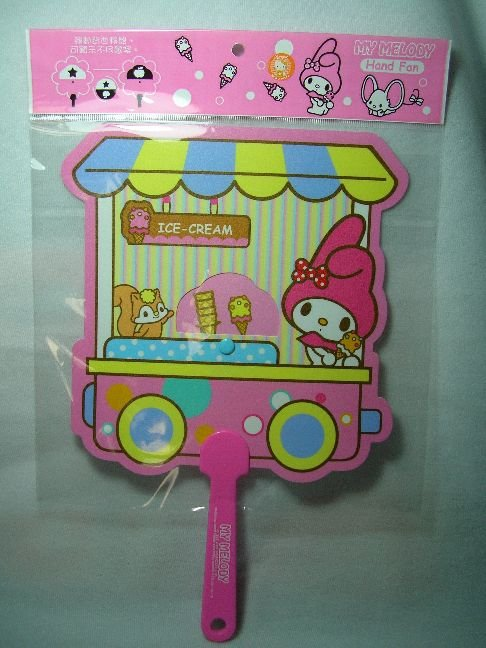 Image 0 of Sanrio My Melody Die Cut Plastic Hand Fan #1