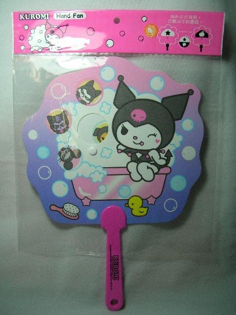 Image 0 of Sanrio Kuromi Die Cut Plastic Hand Fan #1