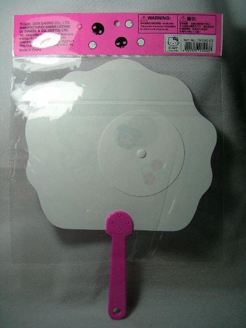 Image 1 of Sanrio Kuromi Die Cut Plastic Hand Fan #1