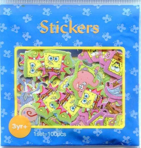 Image 0 of SpongeBob and SquarePants Sticker Set Pack Sack #1