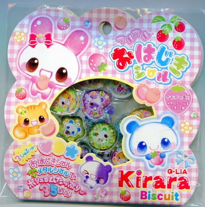 Image 0 of Japan Q-Lia Kirara Biscuit 35 Pieces Sticker Set Sack (I0618)