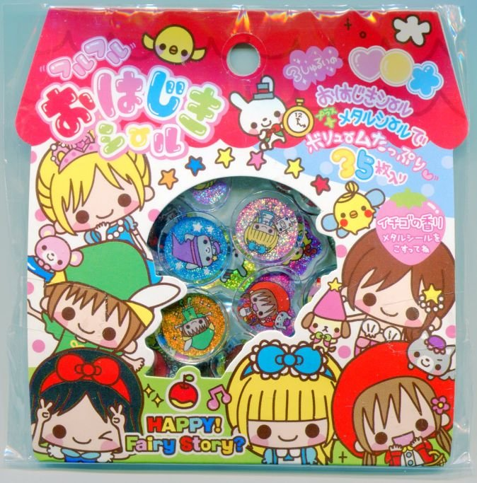 Image 0 of Japan Q-Lia Happy Fairy Story 35 Pieces Sticker Set Sack (I0621)